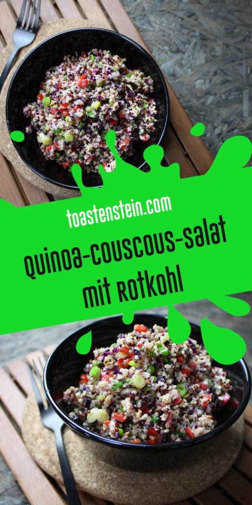 Quinoa-Couscous-Salat mit Rotkohl | Toastenstein