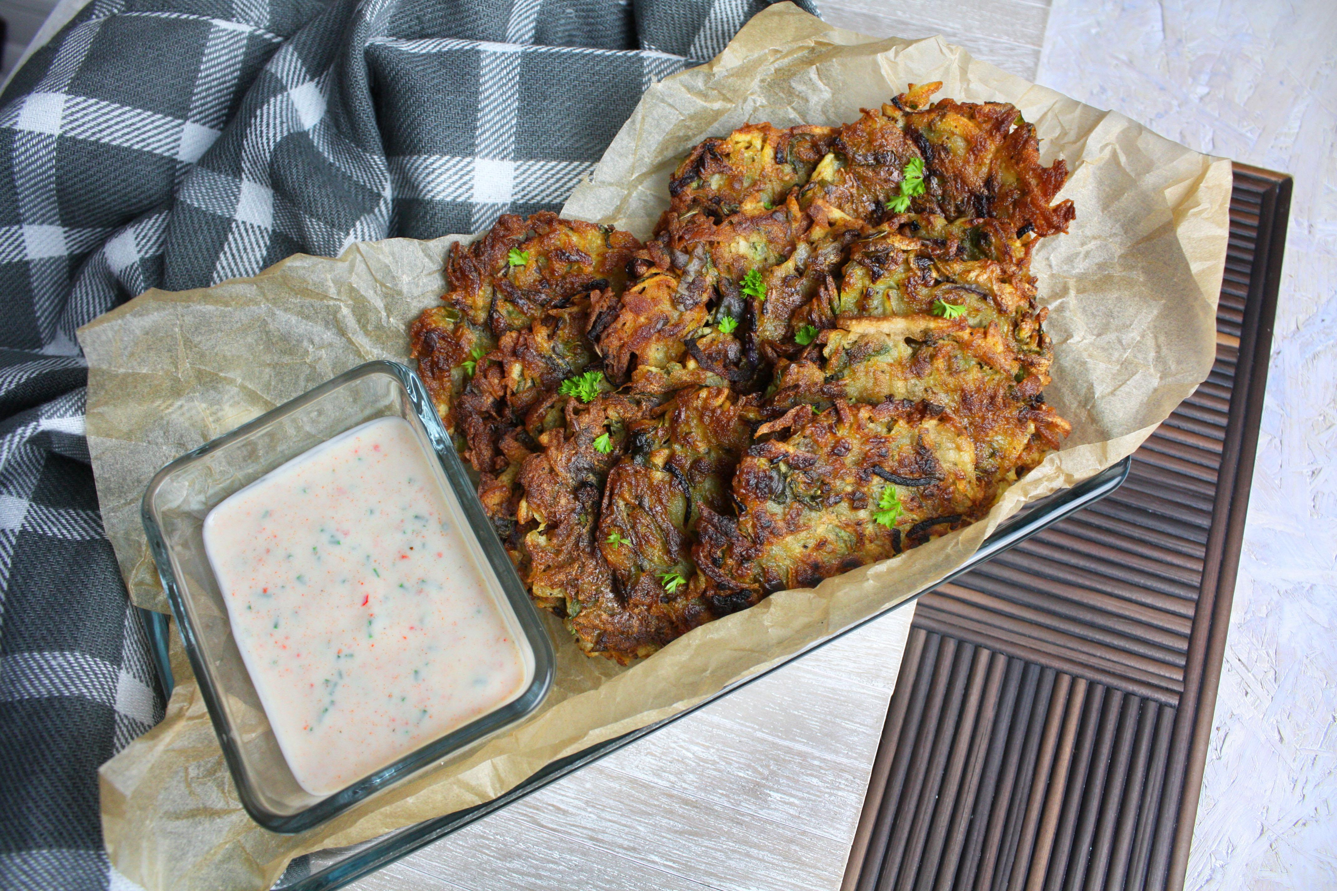 Kartoffel-Rucola-Rösti mit Dip