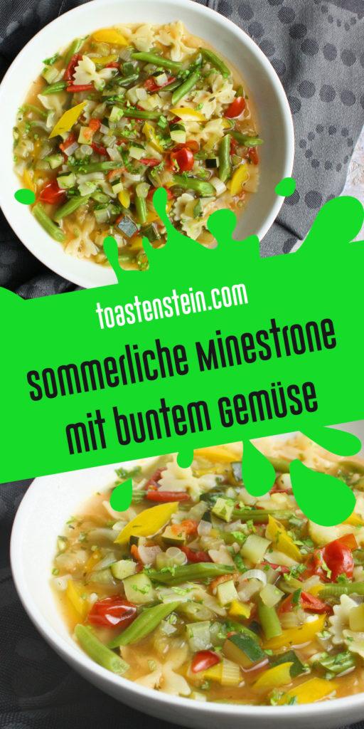 Sommerliche Minestrone mit buntem Gemüse | Toastenstein