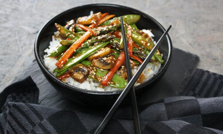 Asia-Gemüse mit Sesam