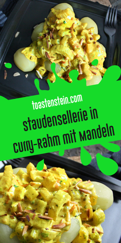 Staudensellerie in Curry-Rahm mit Mandeln | Toastenstein