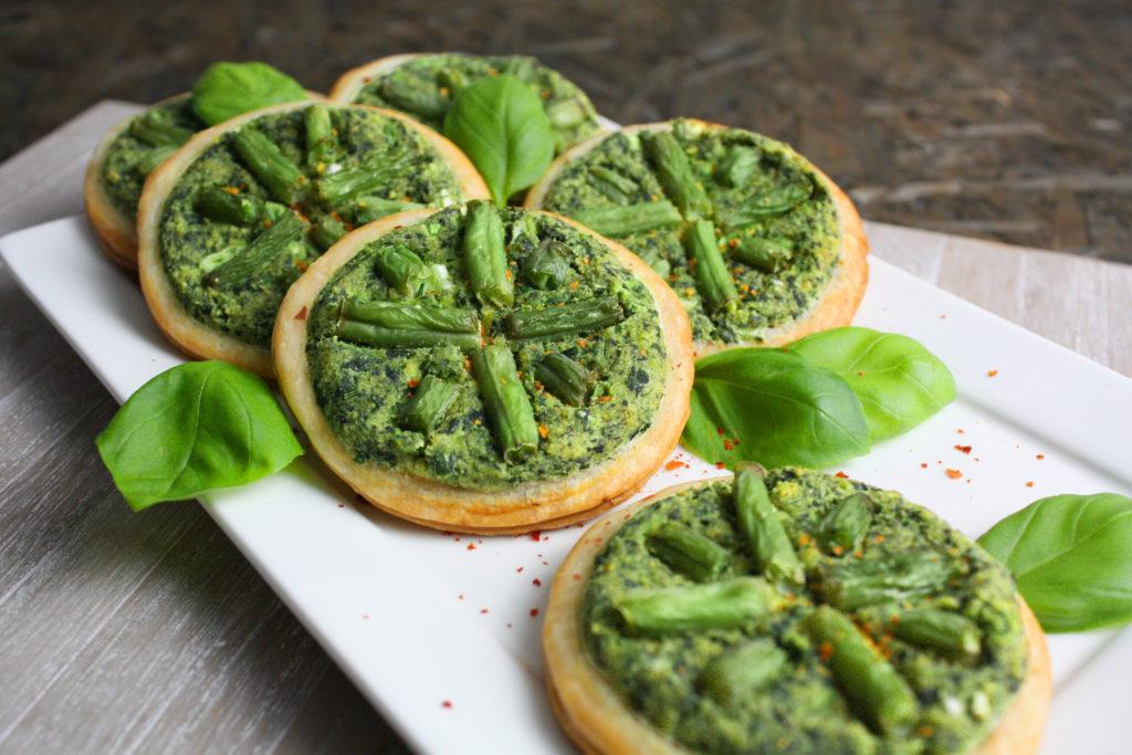 Mini-Quiches mit Spinat und grünen Bohnen | Toastenstein