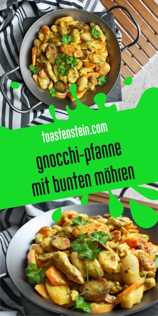 Herzhafte Gnocchi-Pfanne mit bunten Möhren | Toastenstein