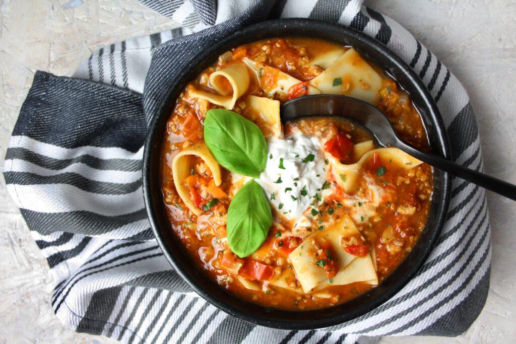 – Suppe Lasagne Raffiniert Und Einfach 6yY7gfvb