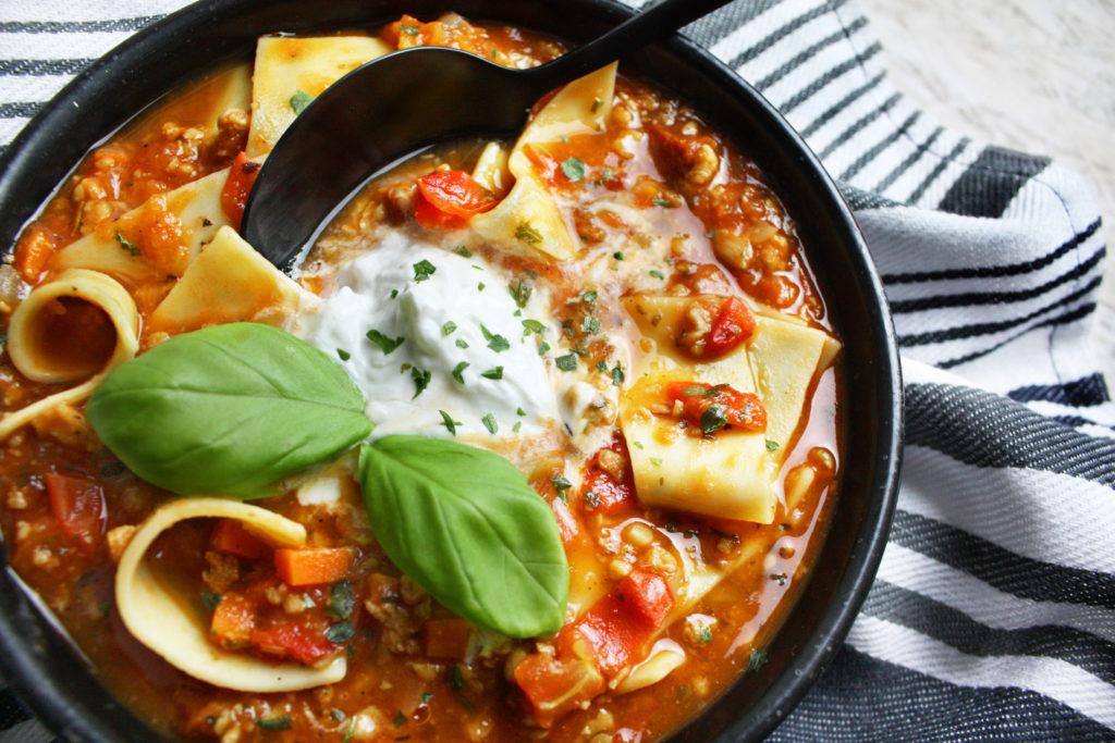 Raffiniert und einfach – Lasagne-Suppe