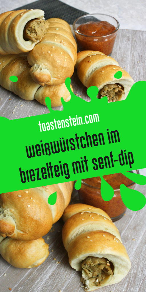 Würstchen im Brezel-Teig mit Senf-Dip | Toastenstein