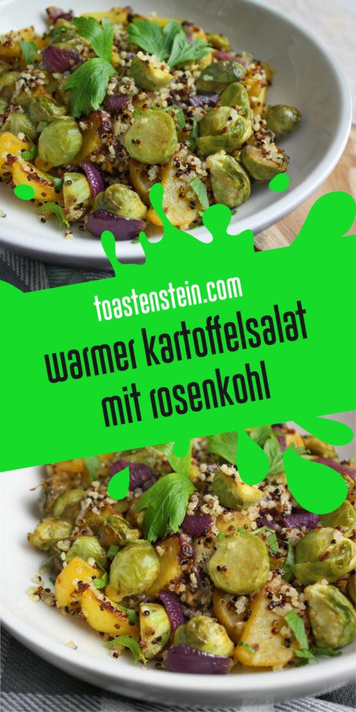 Warmer Kartoffelsalat mit Rosenkohl | Toastenstein