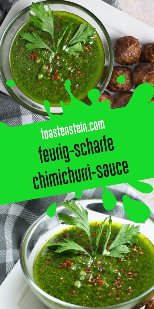 Chimichurri – Scharfe vegane Kräutersauce | Toastenstein