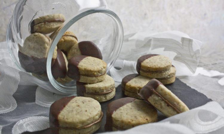 Schokoladige Haselnuss-Nougat-Plätzchen