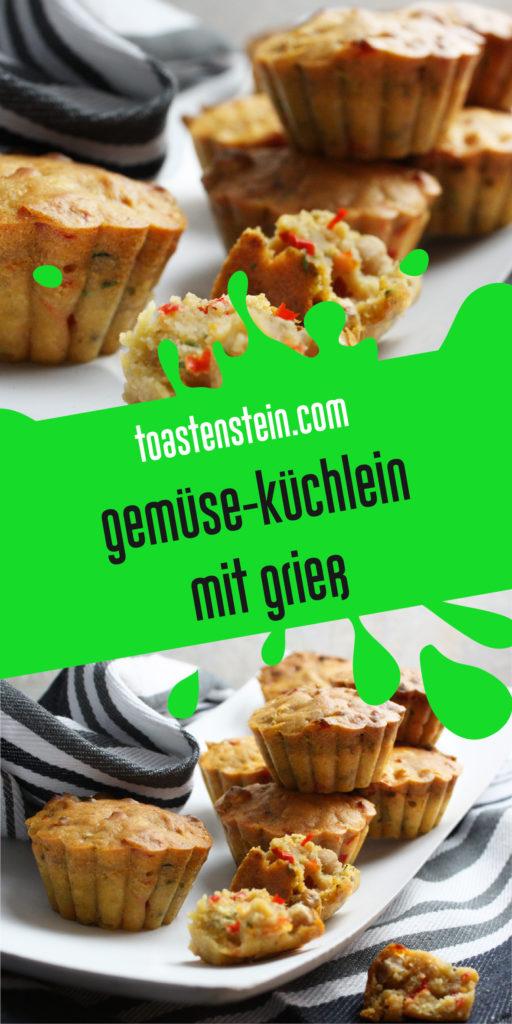 Gemüse-Küchlein mit Grieß | Toastenstein