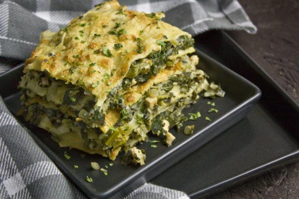 Grünkohl-Lasagne mit Bechamel-Sauce