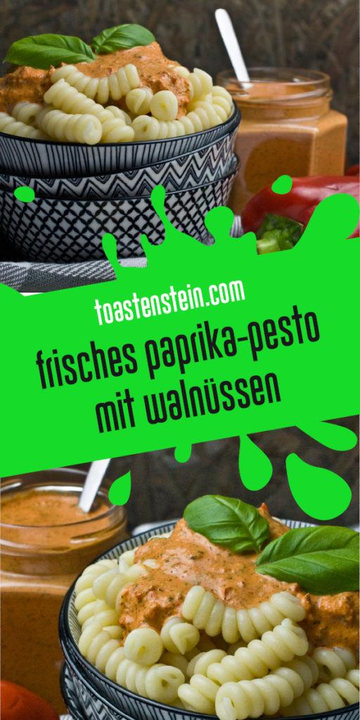 Paprika-Pesto mit Walnüssen | Toastenstein