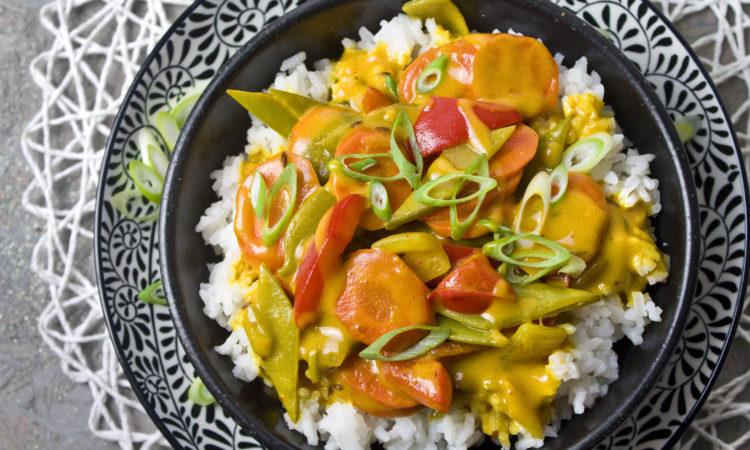 Möhren-Curry mit Kokosmilch