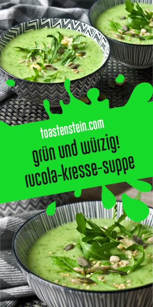 Würzige Rucola-Kresse-Suppe