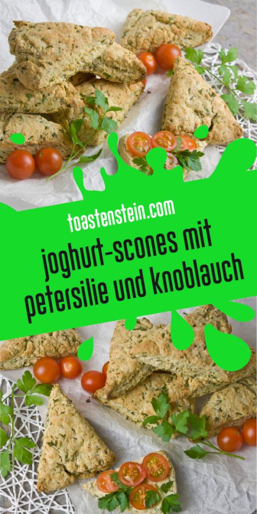 Joghurt-Scones mit Petersilie und Knoblauch Toastenstein