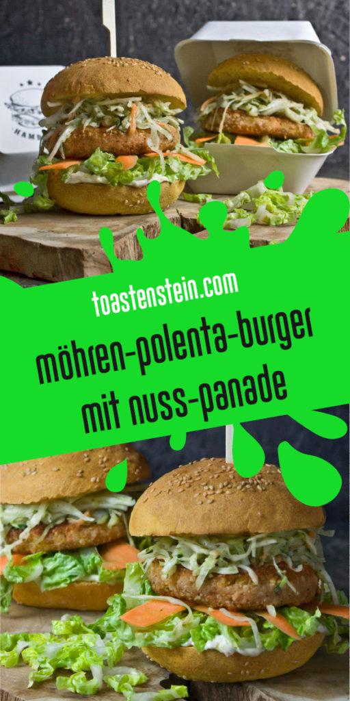 Möhren-Polenta-Burger Toastenstein