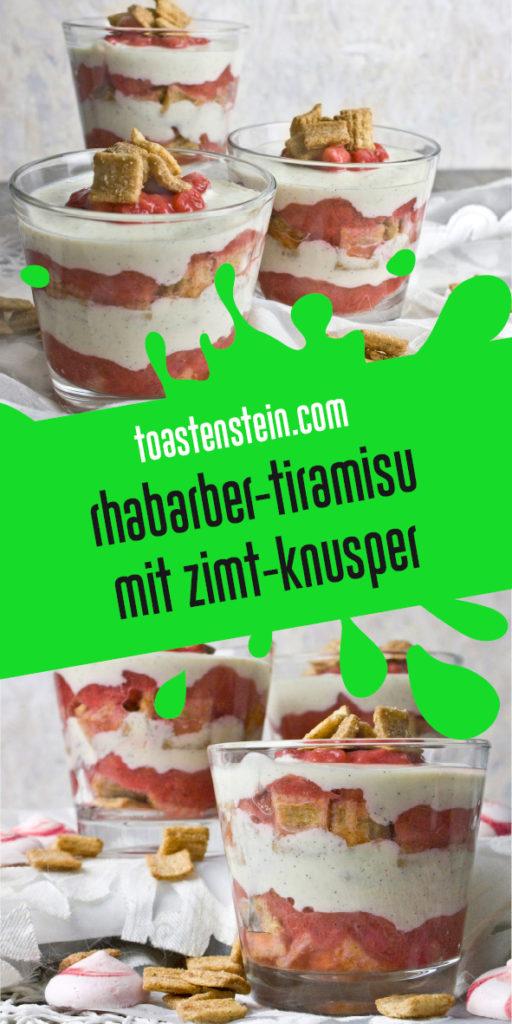 Rhabarber-Tiramisu mit Zimt-Knusper