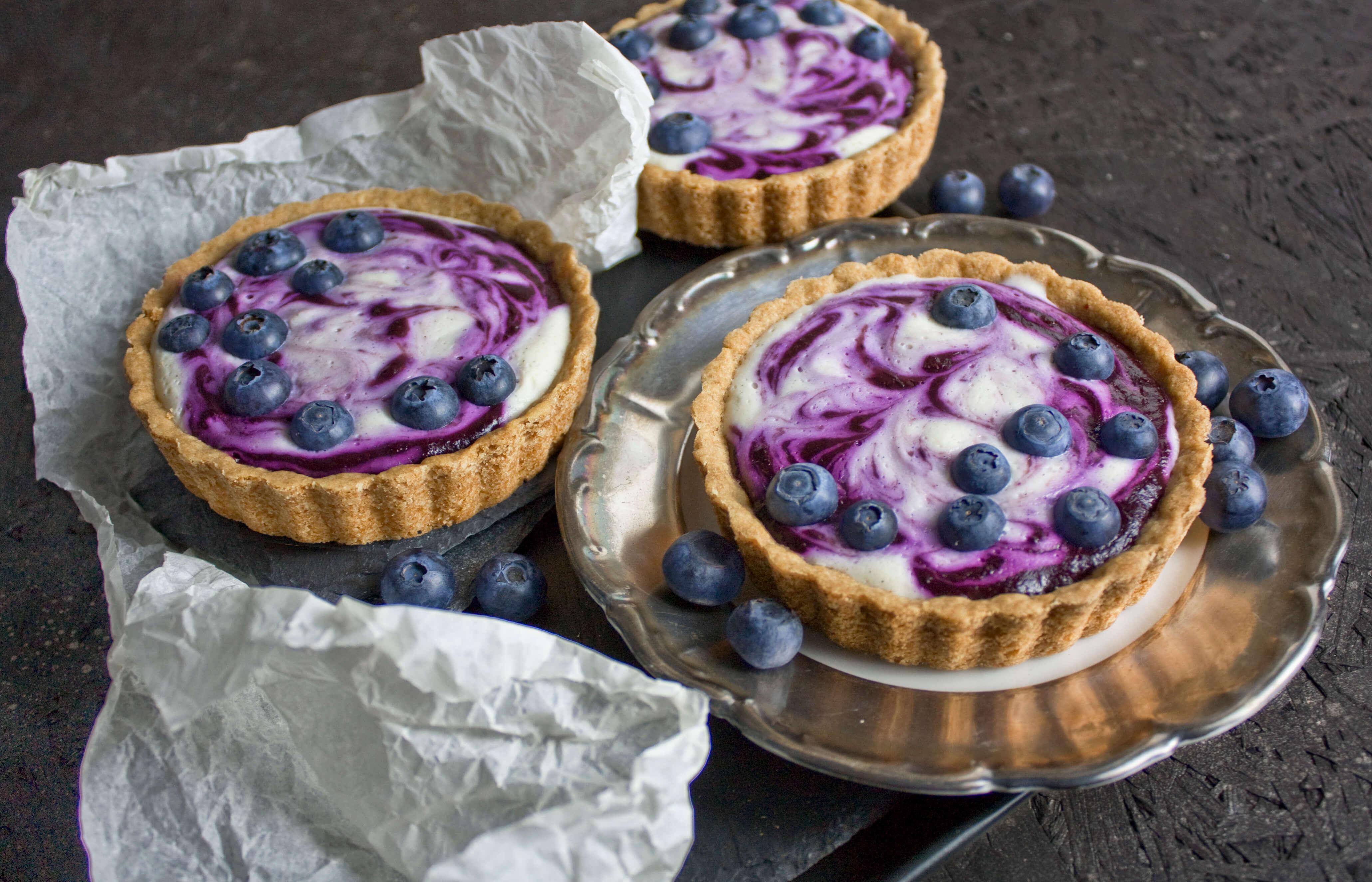 Fruchtig und frisch! – Blaubeer-Joghurt-Törtchen