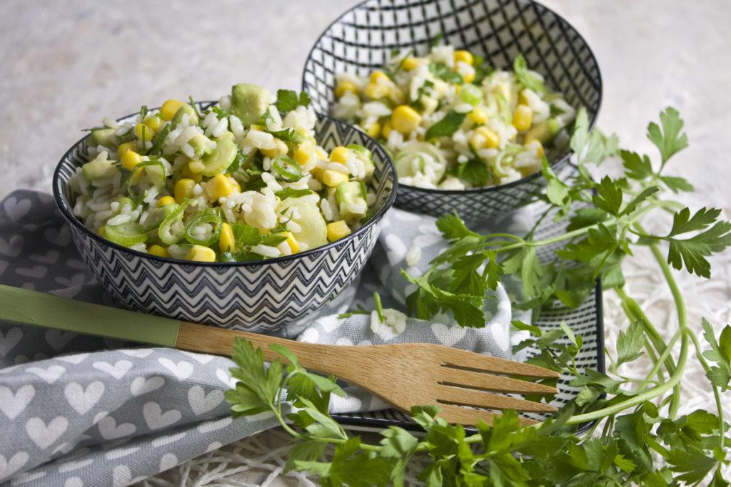 Reis-Mais-Salat mit Limetten-Dressing Toastenstein