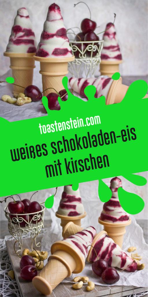 Weißes Schokoladeneis mit Kirschen | Toastenstein
