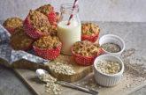Frühstücks-Muffins mit Apfel und Banane