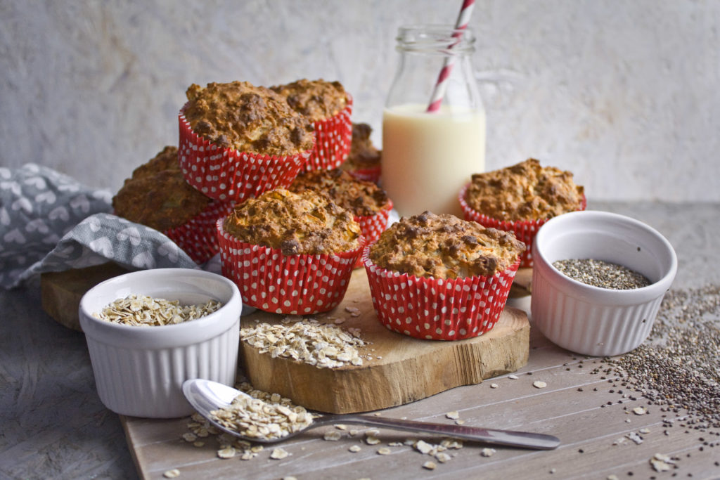 Frühstücks-Muffins mit Apfel und Banane | Toastenstein