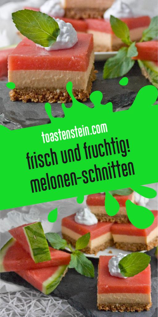 Vegane Melonen-Schnitten, Toastenstein