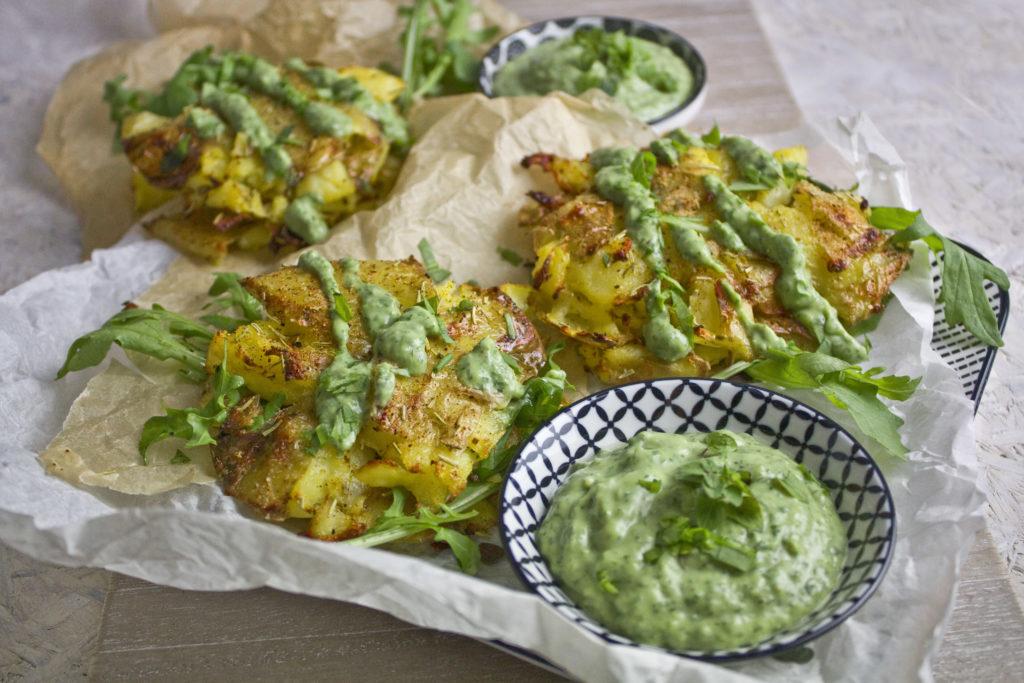 Quetschkartoffeln mit Grüner Sauce | Toastenstein