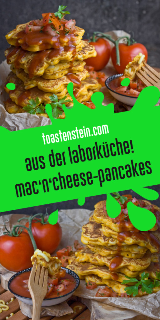 Mac'n'Cheese Pancakes – Carbs on Carbs, baby! | Toastenstein