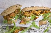 Herbstküche! – Pfifferling-Baguettes mit Tofucreme