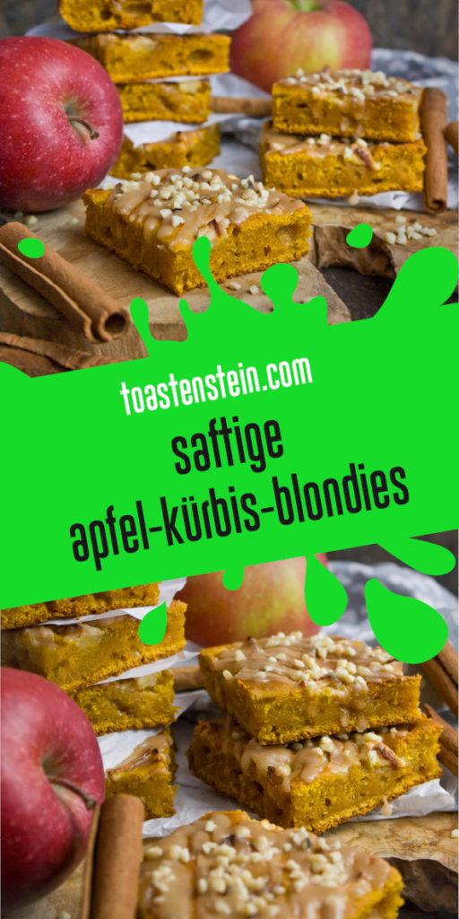 Saftige Apfel-Kürbis-Blondies | Toastenstein
