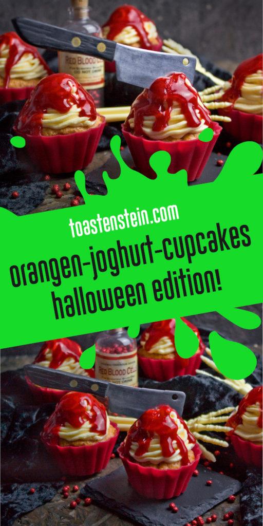 Orangen-Joghurt-Cupcakes [Halloween-Edition] | Toastenstein