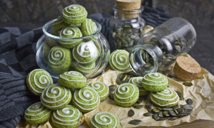 Knsuprig-krümelige Kürbiskern-Kekse