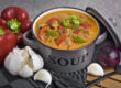 Vegane Gyros-Suppe mit Seitan