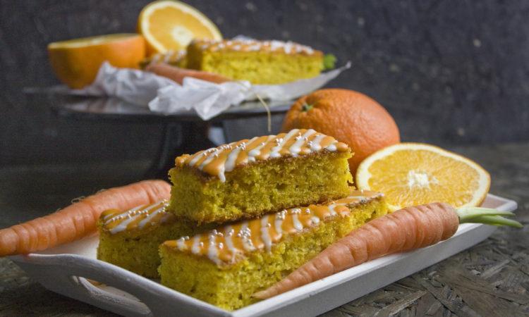 Orangen-Karotten-Kuchen mit Ingwer