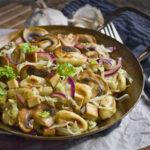 Ofenfrische vegane Rosenkohl-Tarte