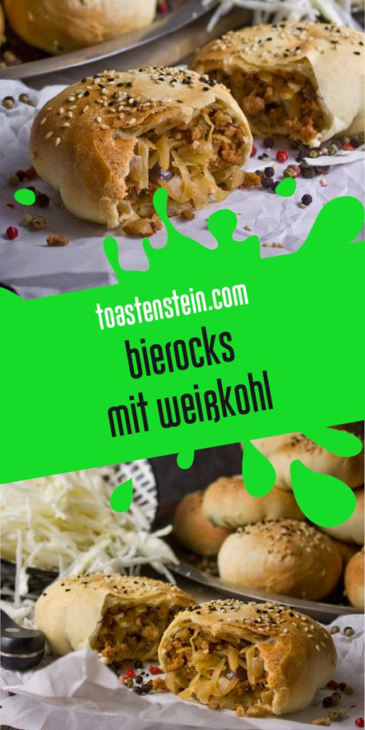 Bierocks - Gefüllte Brötchen mit Weißkohl | Toastenstein