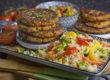 Haferflocken-Bratlinge mit Karotte und Paprika