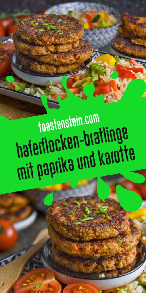 Haferflocken-Bratlinge mit Karotte und Paprika | Toastenstein