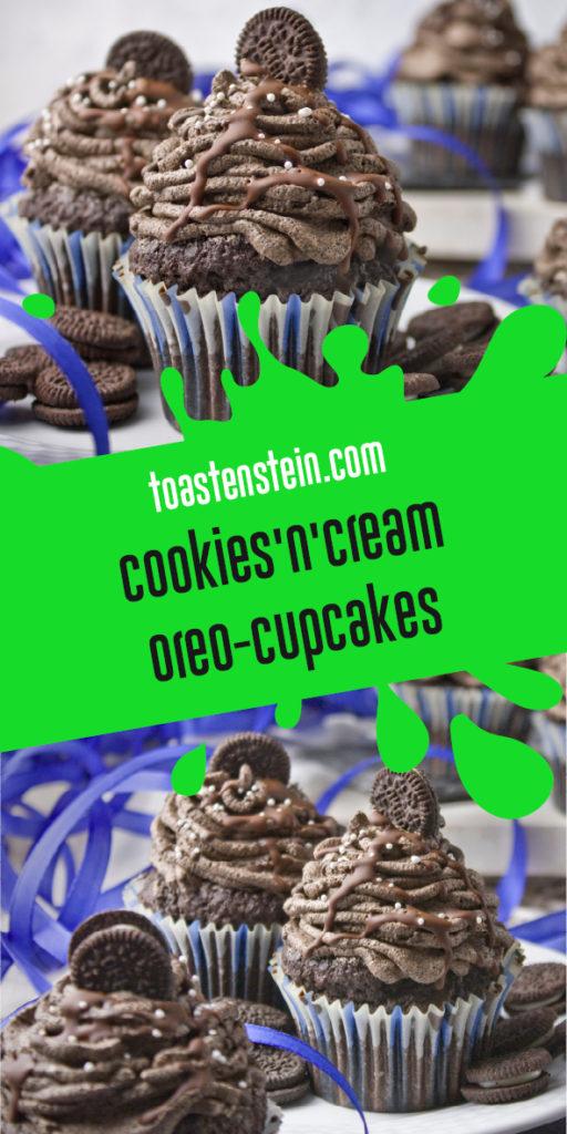 Einfache Oreo-Cupcakes – Cookies'n'Cream | Toastenstein