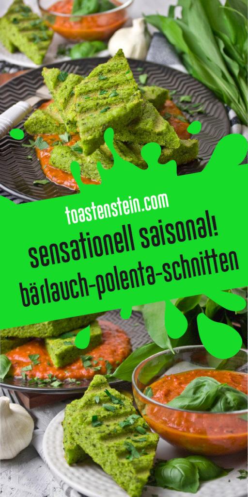 Bärlauch-Polenta-Schnitten mit Tomaten-Sauce | Toastenstein