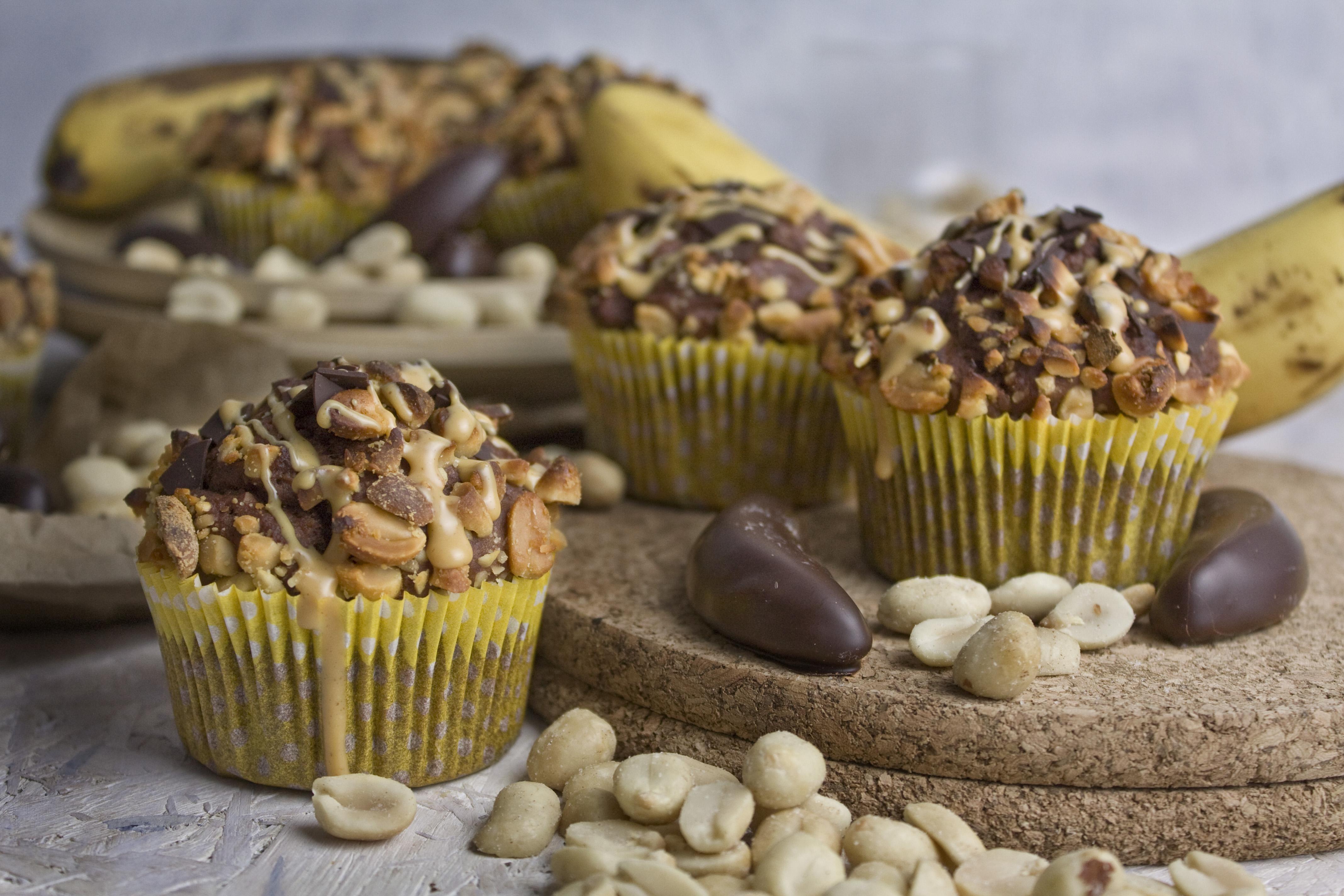 Bananut! – Bananen-Schoko-Erdnuss-Muffins | Toastenstein