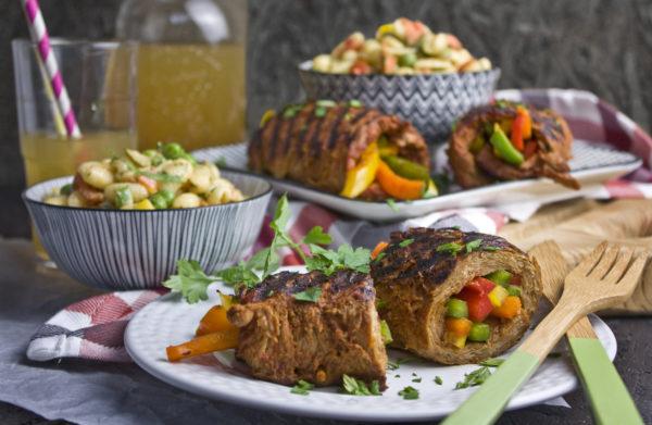 Gerollte Paprika-Steaks von Grill | Toastenstein