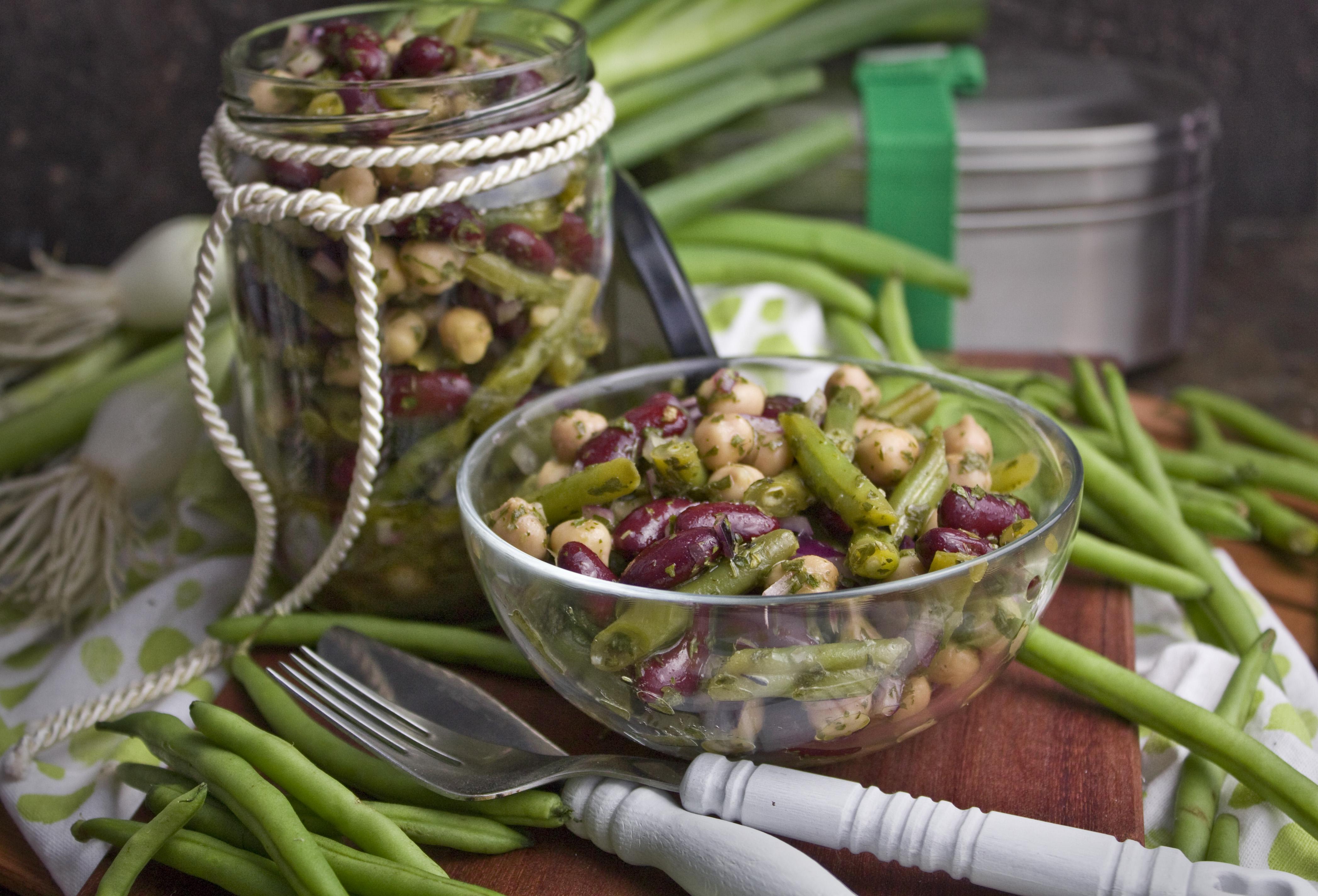 Drei-Bohnen-Salat mit roten Zwiebeln | Toastenstein