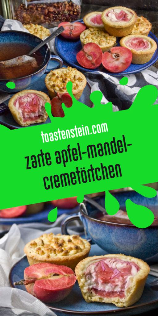 Zarte Apfel-Mandel-Cremetörtchen vom Roten Mond | Toastenstein