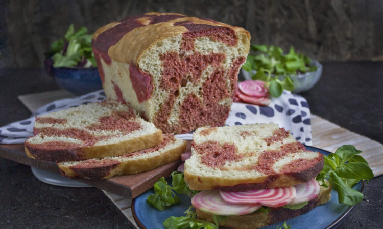 Frisches Fleckenbrot mit Roter Bete | Toastenstein