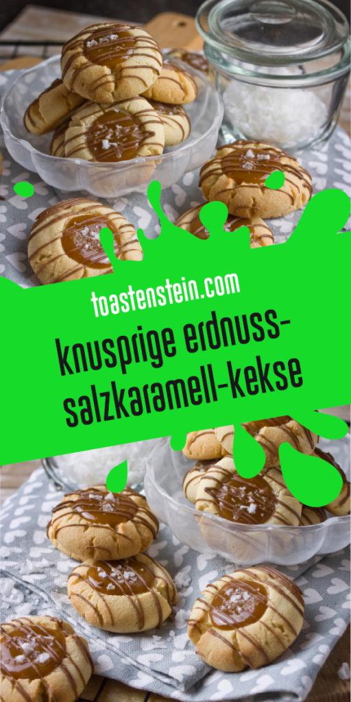 Knusprige Erdnuss-Salzkaramell-Kekse | Toastenstein