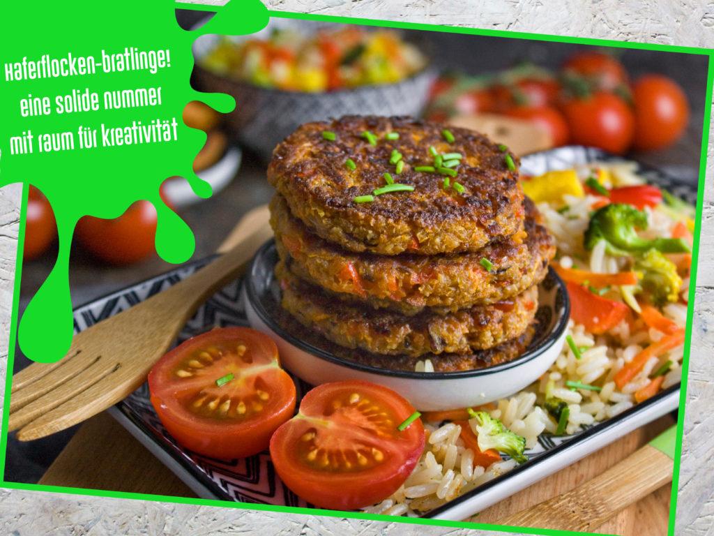 Neujahrsvorsätze: Tipps für angehende Veganer – Haferflocken-Bratlinge | Toastenstein