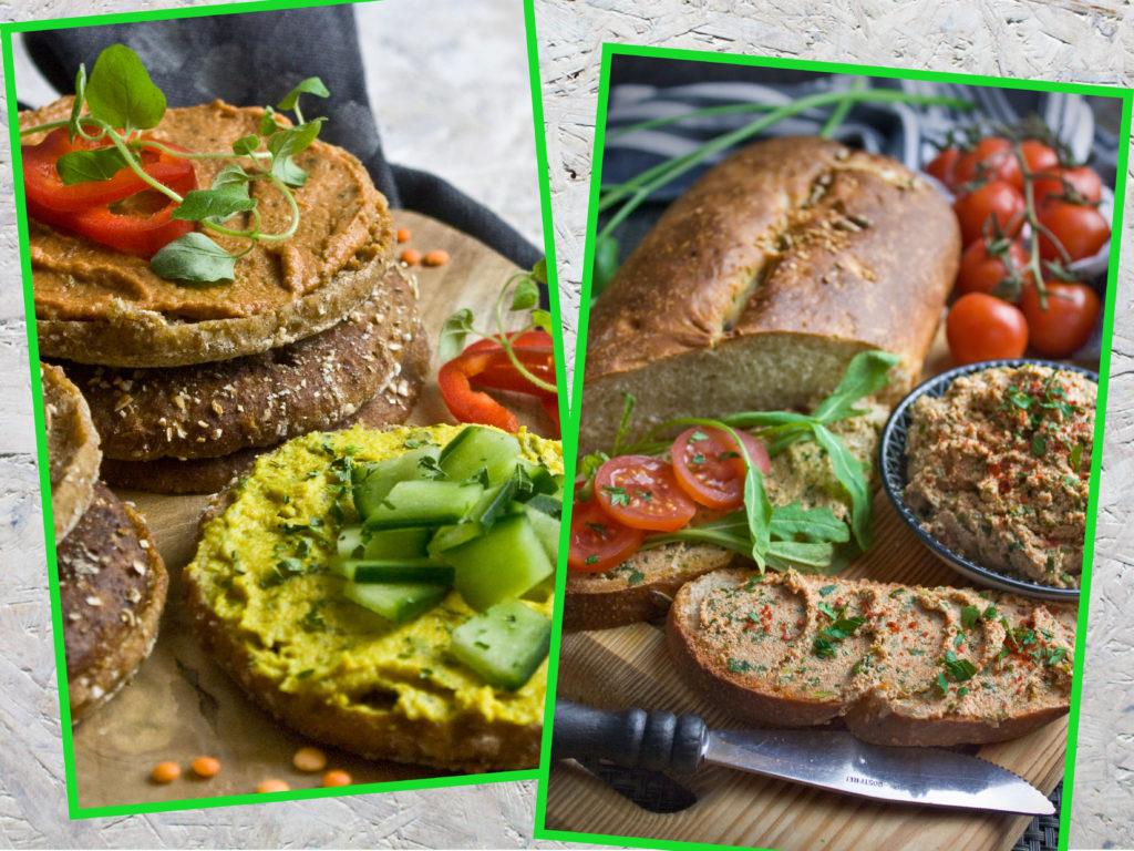 Neujahrsvorsätze: Tipps für angehende Veganer – Vegane Frühstücksalternativen – Linsenaufstrich – Tofu-Rucola-Aufstrich | Toastenstein