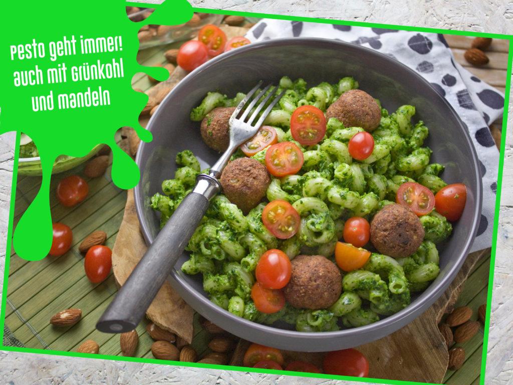 Tipps für angehende Veganer – Anfängertaugliche Rezepte – Grünkohl-Mandel-Pesto | Toastenstein